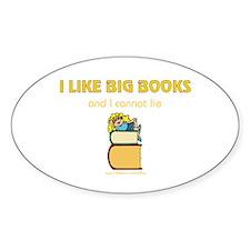 Like Big Books (f) Oval Decal