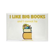 Like Big Books (f) Rectangle Magnet