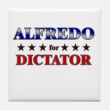 ALFREDO for dictator Tile Coaster