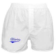 Alivia Vintage (Blue) Boxer Shorts