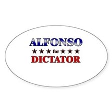 ALFONSO for dictator Oval Decal