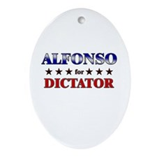 ALFONSO for dictator Oval Ornament