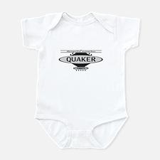 Stylish Grey Quaker Parakeet Baby Bodysuit