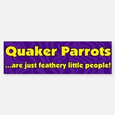 Feathery People Quaker Parrot Bumper Bumper Bumper Sticker