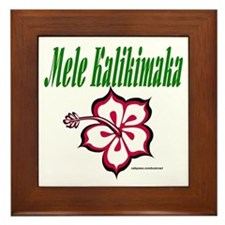 Hawaiian Merry Christmas Framed Tile