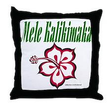 Hawaiian Merry Christmas Throw Pillow