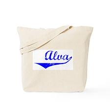 Alva Vintage (Blue) Tote Bag