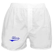 Alva Vintage (Blue) Boxer Shorts
