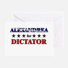 ALEXANDREA for dictator Greeting Card