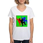 SNOWBORDERS Women's V-Neck T-Shirt