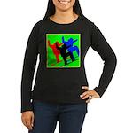 SNOWBORDERS Women's Long Sleeve Dark T-Shirt
