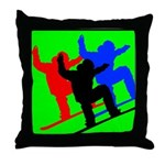SNOWBORDERS Throw Pillow
