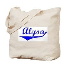 Alysa Vintage (Blue) Tote Bag