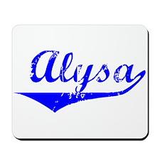 Alysa Vintage (Blue) Mousepad