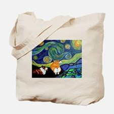 Corgi Starry Starry Night Tote Bag