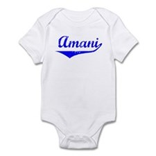Amani Vintage (Blue) Infant Bodysuit