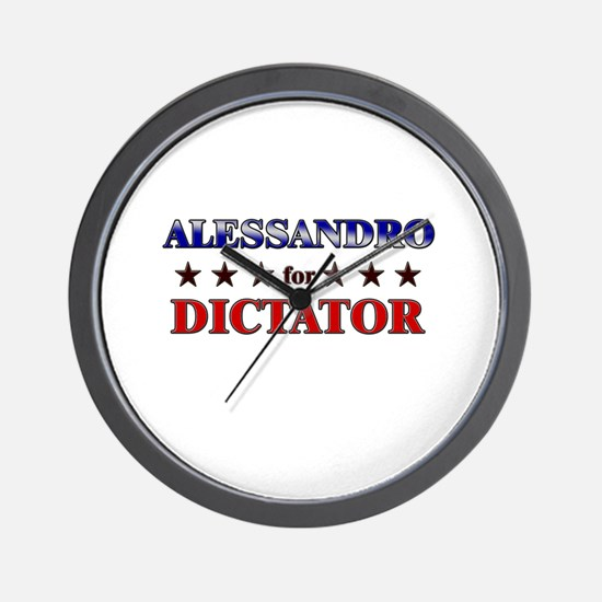 ALESSANDRO for dictator Wall Clock