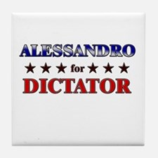 ALESSANDRO for dictator Tile Coaster
