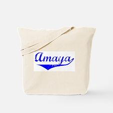 Amaya Vintage (Blue) Tote Bag