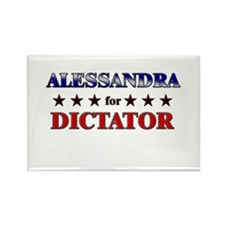 ALESSANDRA for dictator Rectangle Magnet