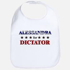 ALESSANDRA for dictator Bib