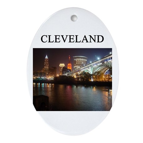 cleveland gifts t-shirts pres Oval Ornament