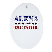 ALENA for dictator Oval Ornament