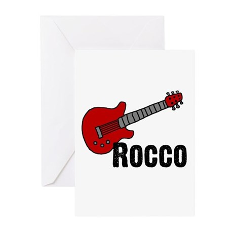 Guitar - Rocco Greeting Cards (Pk of 20)