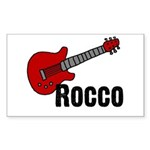 Guitar - Rocco Rectangle Sticker