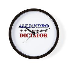 ALEJANDRO for dictator Wall Clock
