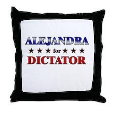 ALEJANDRA for dictator Throw Pillow