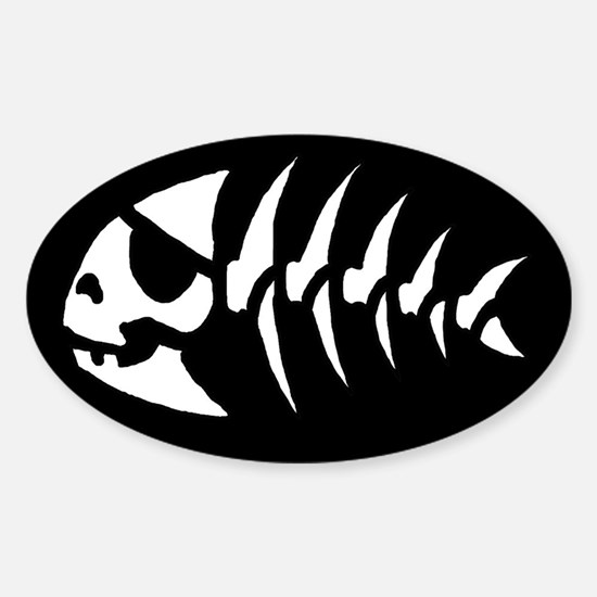 Pirate Fish Oval Decal
