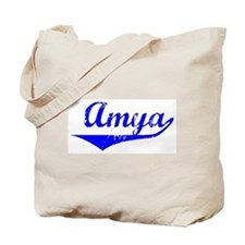 Amya Vintage (Blue) Tote Bag