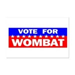 Vote for Wombat Mini Poster Print