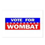Vote for Wombat Postcards (Package of 8)