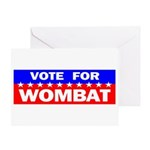 Vote for Wombat Greeting Card