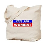 Vote for Wombat Tote Bag