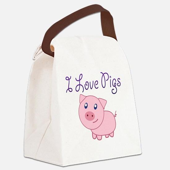 Unique Pig Canvas Lunch Bag