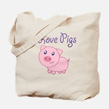 Cute I love pigs Tote Bag