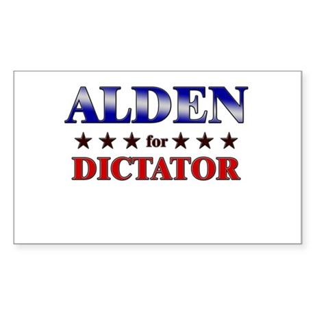 ALDEN for dictator Rectangle Sticker