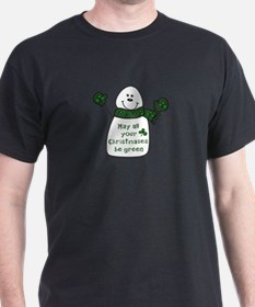 Green Christmas Irish T-Shirt
