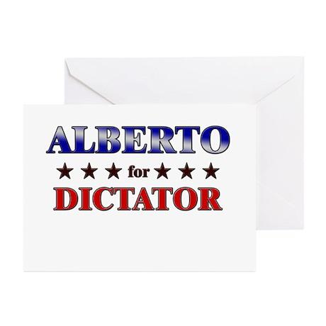 ALBERTO for dictator Greeting Cards (Pk of 10)