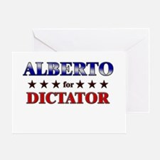 ALBERTO for dictator Greeting Card