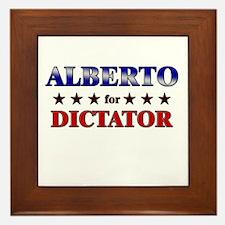 ALBERTO for dictator Framed Tile