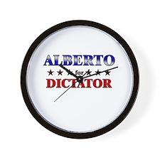 ALBERTO for dictator Wall Clock