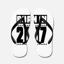 Born In 2007 Birthday Designs Flip Flops