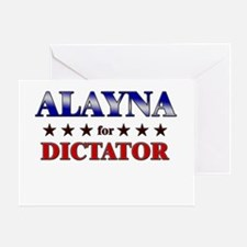 ALAYNA for dictator Greeting Card