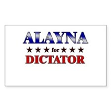ALAYNA for dictator Rectangle Decal