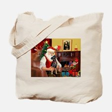 Santa'sMiniature Pinscher Tote Bag