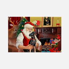 Santa'sMiniature Pinscher Rectangle Magnet